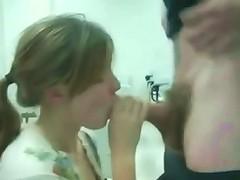 Crazy Schoolgirl Sucks Cock In Class